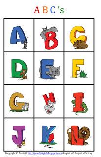ABC Bingo Match Printable FREE!
