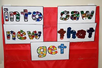 Sight Word Decorating (Cherrio Mats)