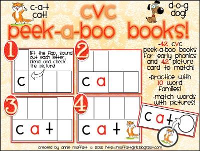CVC Peek-a-Boo Books!