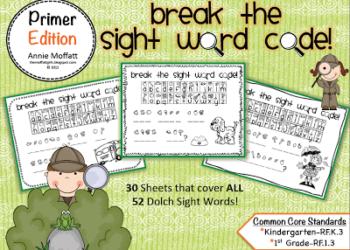 Break the Sight Word Code! (PRIMER EDITION)