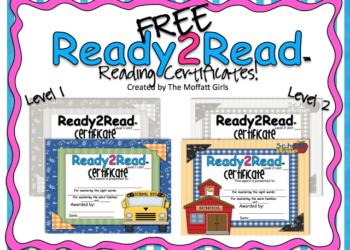 FREE Ready2Read Certificates!