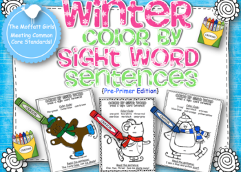 Winter Color by Sight Word Sentences (Pre-Primer)