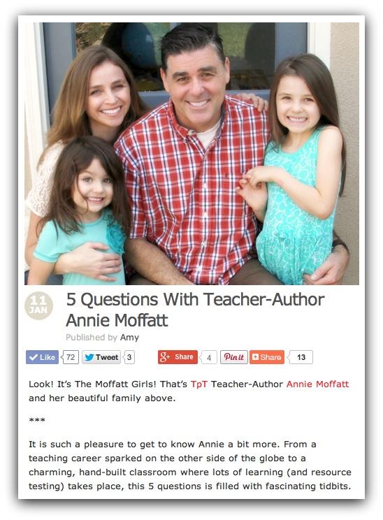 5 Questions with Teacher-Author Annie Moffatt!