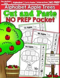 Alphabet Apple Trees Cut and Paste