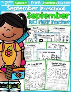 Back to School NO PREP Preschool Packet