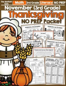 November 3rd Grade NO PREP Packet