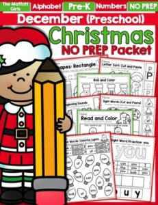 December Preschool NO PREP Packet