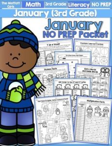 January 3rd Grade NO PREP Packet