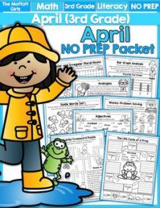 April 3rd Grade NO PREP Packet