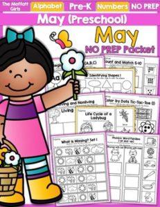May Preschool NO PREP Packet