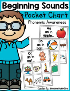 Phonemic Awareness Beginning Sounds Pocket Chart