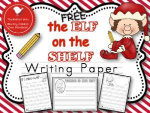 Free Elf on the Shelf Writing Paper