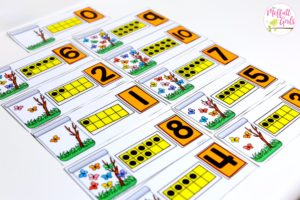 Kindergarten Math Centers, counting, numbers, ten frames