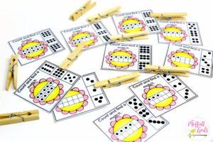 Kindergaten Math, ten frame, subitizing, math games