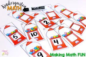 Kindergarten Math, math games, number, counting