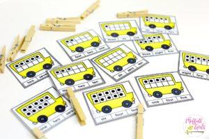 Number word, Kindergarten math, centers, counting, ten frames, math games