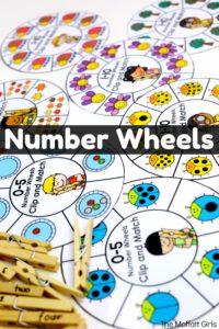Number Wheels, Counting, math, kindergarten math games
