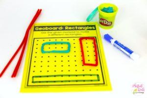 Kindergarten, Math, Geoboards, Shapes, Common Core,