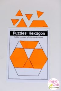 Hexagon, math, kindergarten, common Core math