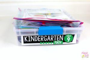 Kindergarten Math, Common Core Curriculum, math organization, Classroom organization