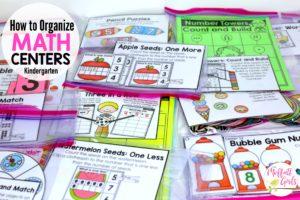 Organizing Math Centers, Kindergarten Curriculum