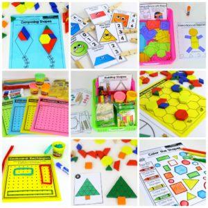 Kindergarten Math, Common Core Math, Kindergarten, shapes, patterns