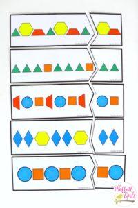 Shapes, Patterns, puzzles, Kindergarten, Math, common core,