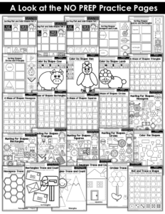 Shape Worksheets, Kindergarten Math, Shapes, Common Core