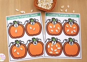 October Kindergarten Morning Bins